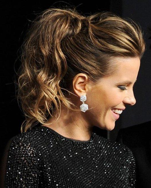 Perfect Kim Kardashian Simple Easy Ponytail Hairstyle  Hairstyles Weekly